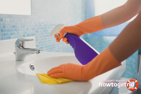 Kā atbrīvoties no kaļķainas krāsas vannas istabā
