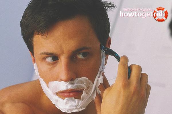 Com desfer-se de l'acne després d'afaitar-se
