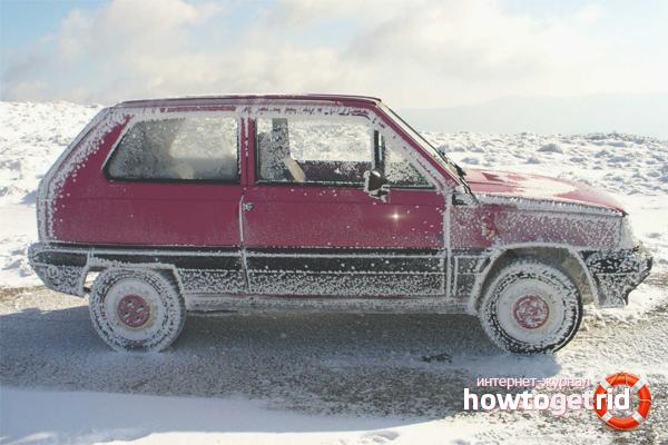 Wie man ein gefrorenes Auto öffnet