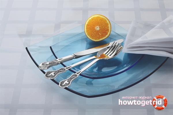 Cara membersihkan alat makan keluli tahan karat