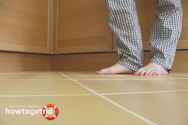 Hur du isolerar golvet i en lägenhet på bottenvåningen