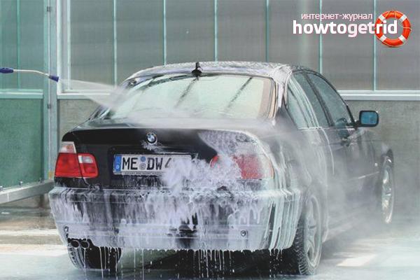Como lavar um carro no inverno