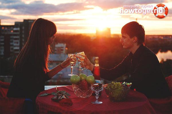 Романтична вечеря на покрива