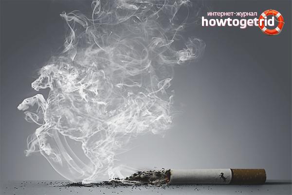 Befreien Sie sich von dem Geruch von Tabak in der Wohnung