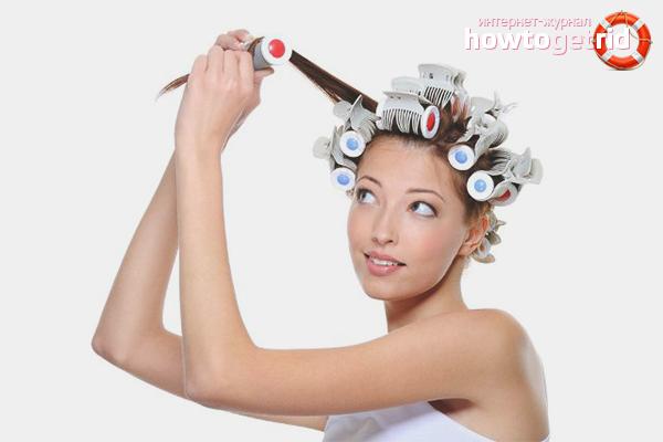 Hur man lockar hår i en hårkrulla