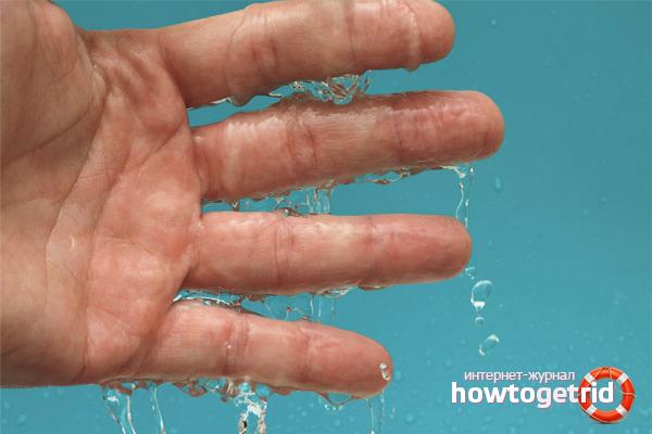 Com desfer-se de la sudoració de les palmes