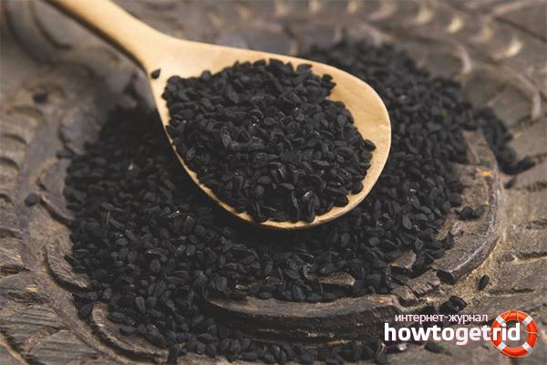 Tractament de psoriasi amb oli de comí negre