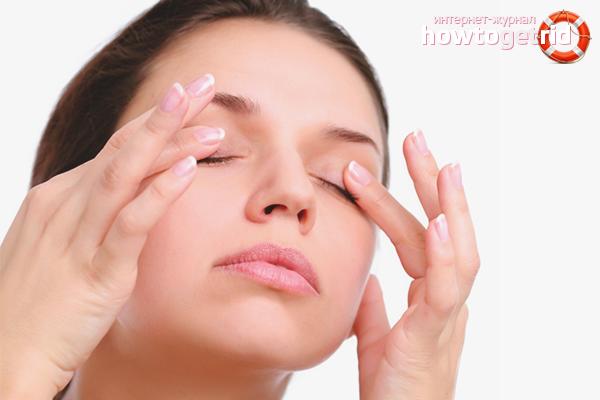 Augenlidmassage