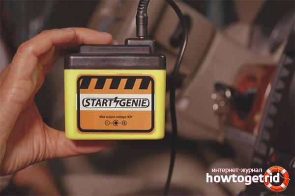 Gerät zum Starten eines Autos mit einer leeren Batterie