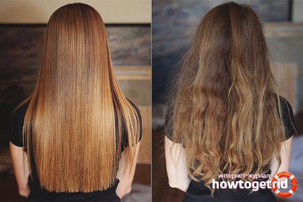 Wie wird Keratin Haarglättung gemacht