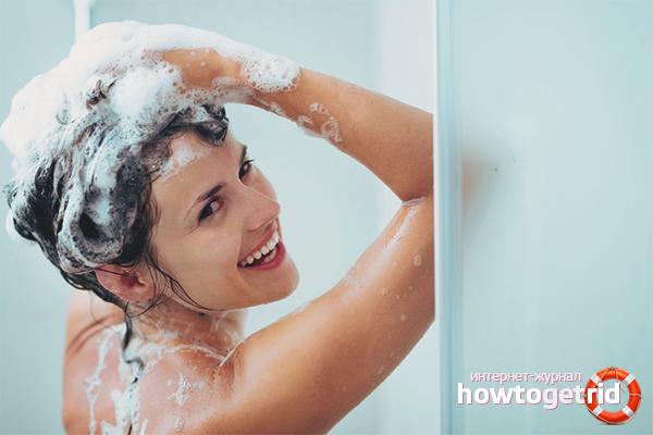 Hur man tvättar håret med schampo