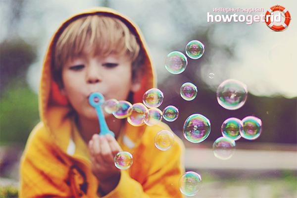 Wie man Seifenblasen macht