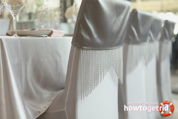 Sådan dekoreres et sølvsted for bryllupsfejring