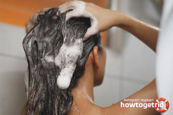 Användningen av schampo