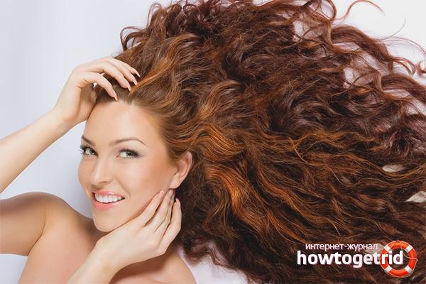 Effekt av henna på håret