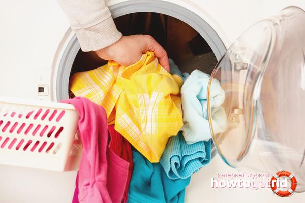 Wie man farbig verblasste Dinge wäscht