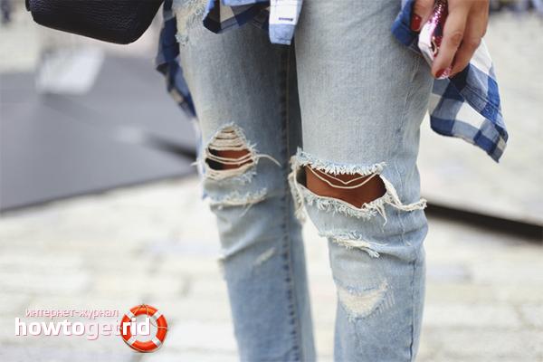 Wie man zerrissene Jeans macht