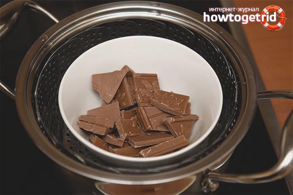 Como derreter o chocolate em banho-maria