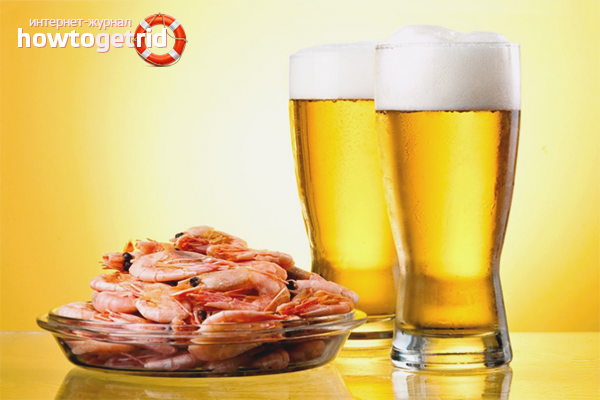 Richtiges Brauen von Garnelen für Bier