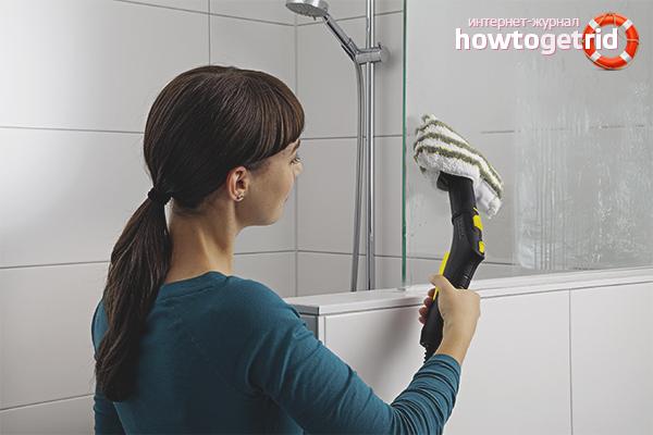 Wie man eine Duschkabine aus Kalk wäscht