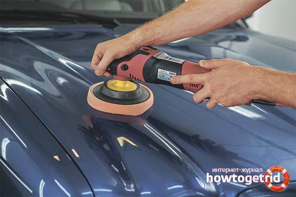 Wie man ein Auto poliert