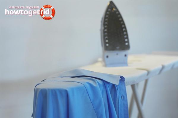 Wie man ein langärmliges Hemd bügelt