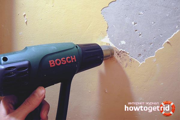 Com treure la pintura d'una paret amb un assecador