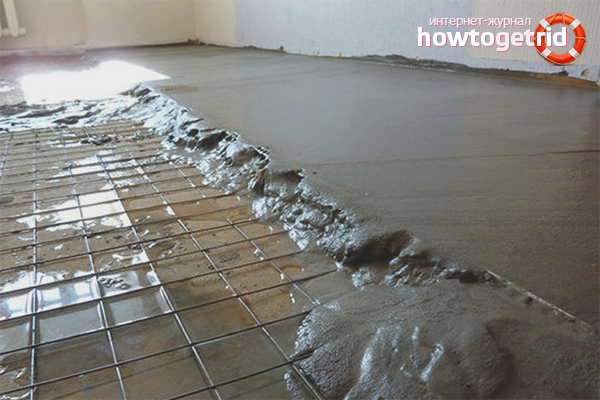 Kā izlīdzināt betona grīdu zem linoleja