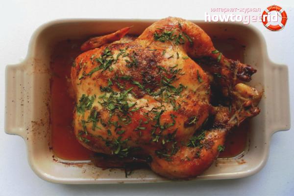 Kā marinēt cepeškrāsnī ceptu vistu