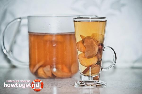Kompot zo sušeného ovocného alkoholu