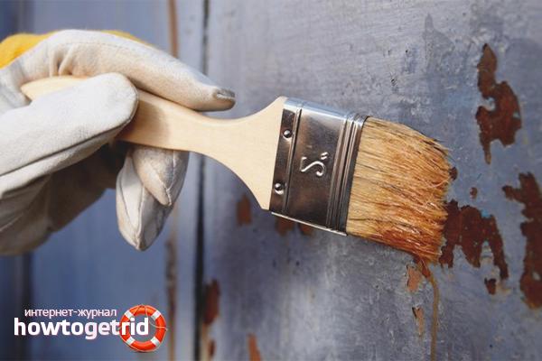 Химически възможности за отстраняване на боя от метал
