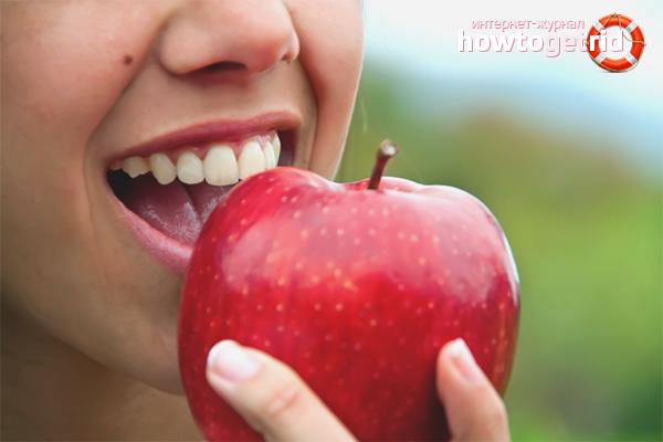 Una poma de placa a les dents