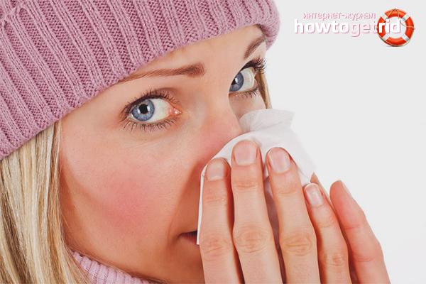 Wie man schnell eine Erkältung loswird