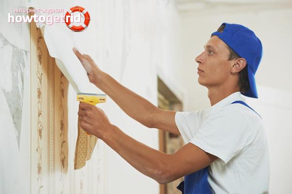 So entfernen Sie schnell alte Tapeten von den Wänden