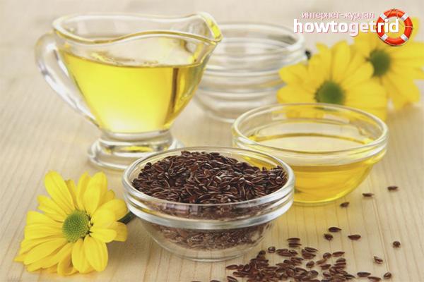 Com prendre oli de lli per a fins medicinals