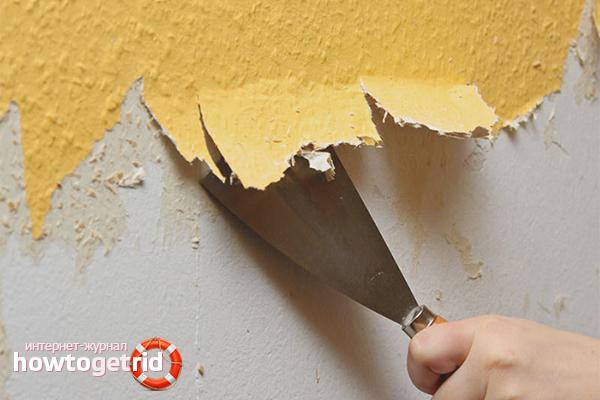 So entfernen Sie alte Tapeten von Trockenbauwänden