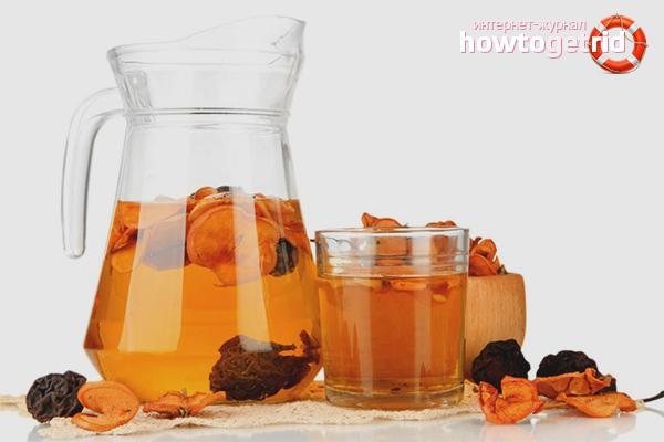 Kompot zo sušeného ovocného medu