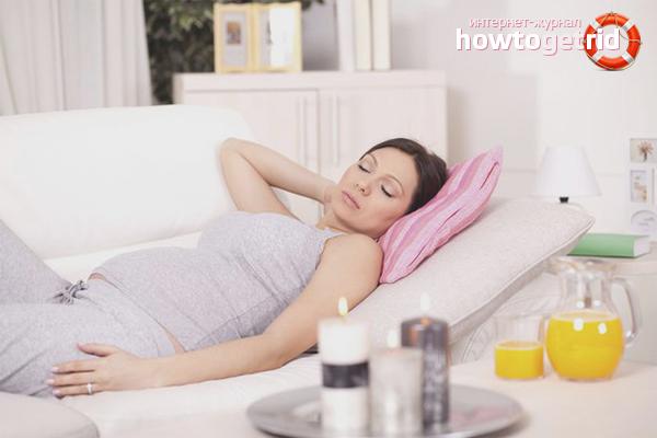 Ruhe und Vitamine mit einer Erkältung