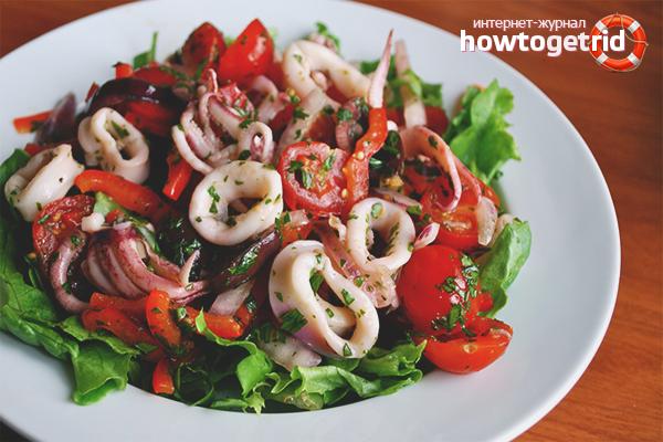 Зеленчукова салата от морски дарове
