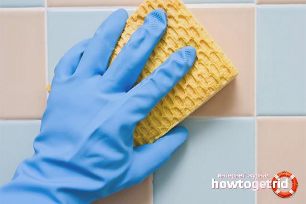 Cara mencuci jubin selepas dibaiki