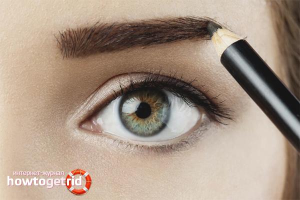 Wie man Augenbrauen visuell dicker macht