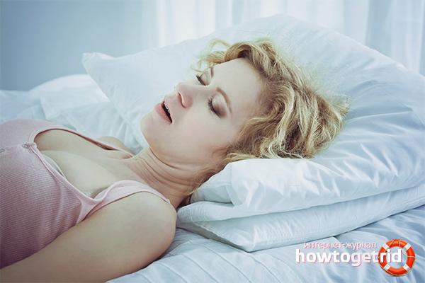 Wie kann eine Frau das Schnarchen loswerden?