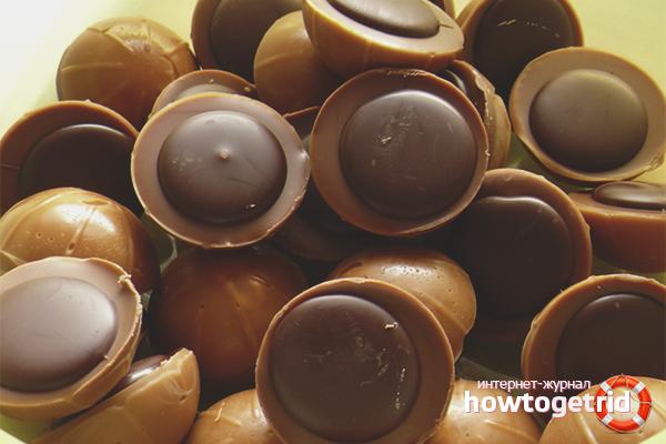 Шоколади с ирис и шоколад