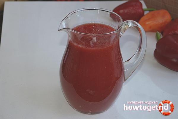 Suc de roșii cu ardei gras