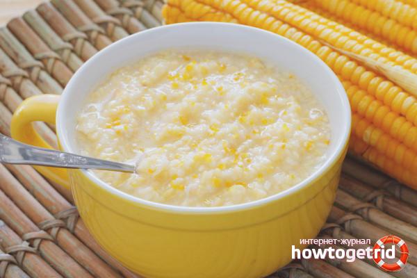 Hur man lagar majsgröt i vatten