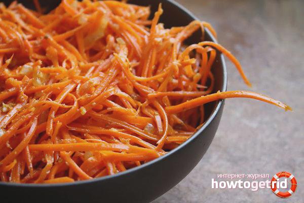 Wie man koreanische Karotten macht