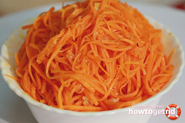 Koreanische Karotten