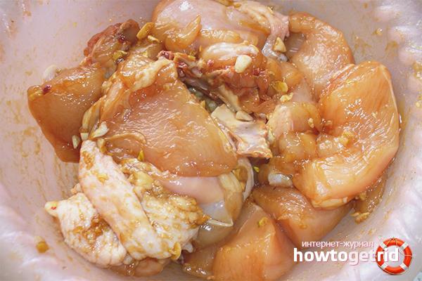Hühnermarinade mit Sojasauce