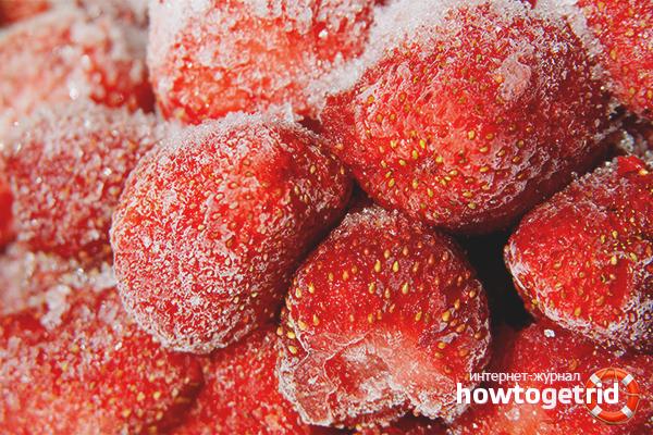 Congelar maduixes amb sucre