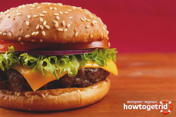 Cheeseburger vom Rind